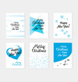 new year cards set congratulations vector image