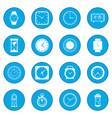 clocks icon blue vector image