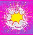 comic speech bubble background vector image