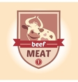 logo with the image of a cow Meat products vector image