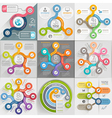 Infographics template set vector image