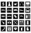 A set icons on theme sales and services