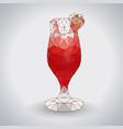 abstract polygonal tirangle cocktail daiquiri vector image vector image