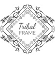 Abstract Tribal Frame vector image vector image