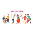 Amazing Show Laughing People Cartoon vector image vector image