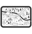 black and white kids road play mat river vector image vector image