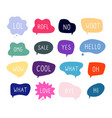 bubble talk phrases online chat clouds vector image