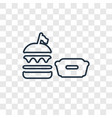 burger concept linear icon isolated on vector image