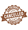cancelled stamp sign seal vector image vector image