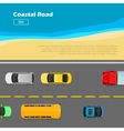 Coastal Road AutoTransport Banner Line Markings vector image