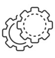 cog wheel icon outline style vector image vector image
