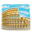 coliseum in rome vector image