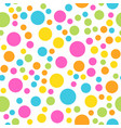 colorful seamless pattern happy funny and vector image vector image