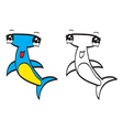 Cute cartoon hammerhead vector image vector image