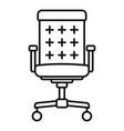 desktop chair icon outline style vector image vector image
