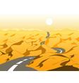 empty road in desert vector image