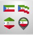 equatorial guinea flag design set vector image vector image