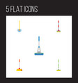 flat icon cleaner set of cleaning cleaner vector image