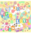 fun sketch background vector image vector image