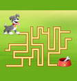 game dog maze find way to the dog food container vector image vector image