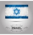geometric polygonal Israel flag vector image vector image