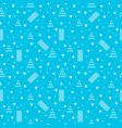 geometric seamless pattern fashion style for vector image vector image
