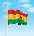 ghana flag vector image vector image