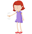 Girl playing rock paper scissors vector image vector image