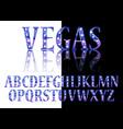 gold 3d broadway alphabet vector image vector image