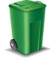 Green street trash can vector image