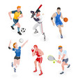 group of sports people vector image vector image