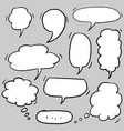 hand drawn set speech bubbles vector image vector image