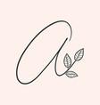 Handwritten letter a monogram or logo brand