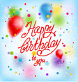happy birthday background and balloons vector image vector image