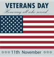 happy veterans day greeting card vector image vector image
