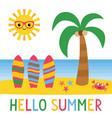 hello summer card vector image vector image