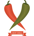hot chili peppers vector image vector image
