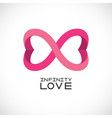infinite love symbol endless symbol two hearts vector image