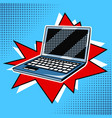 laptop comic book style vector image vector image