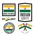 Made in India label set vector image vector image