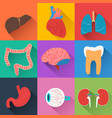 medical health collection vector image vector image