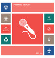 microphone icon symbol elements for your design vector image