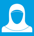 muslim women wearing hijab icon white vector image