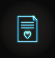 neon wish list concept icon in line style vector image vector image