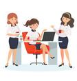 office coffee break vector image vector image
