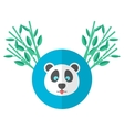 panda and bamboo in flat style vector image vector image
