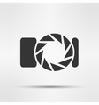 photo camera isolated vector image
