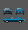retro car 1960s american vintage automobile vector image vector image