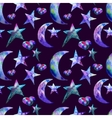 Seamless pattern of Colorful watercolor star and vector image vector image