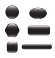 set of black square and rounded button vector image